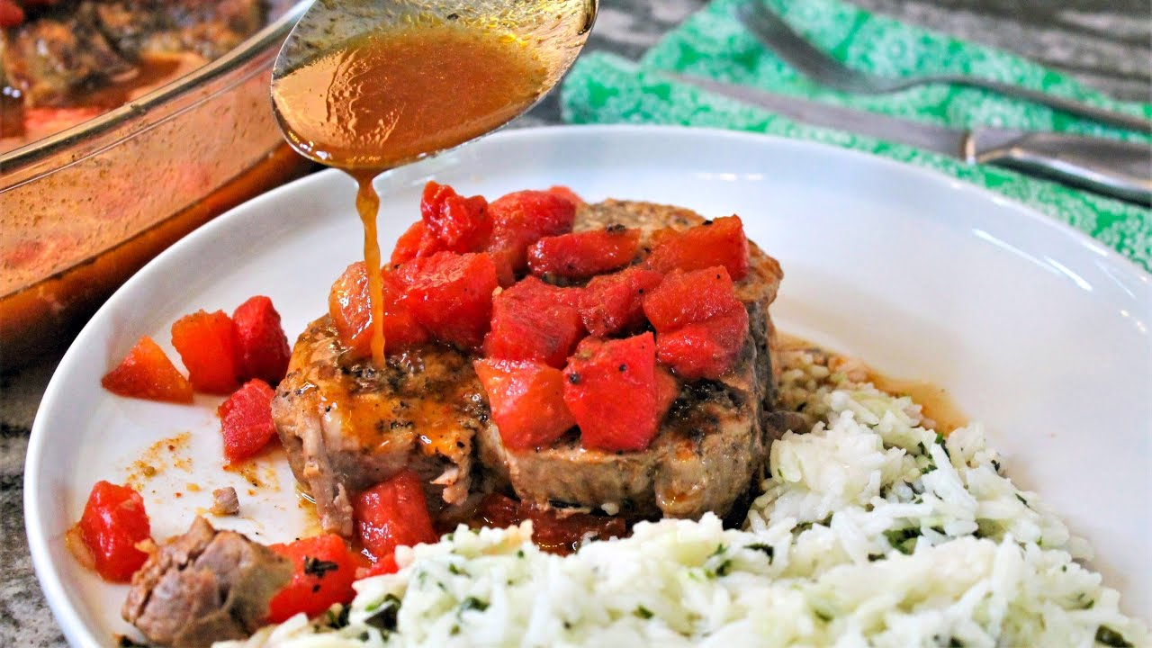 Download Braised Pork Chops With Watermelon