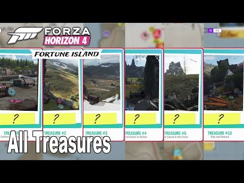 Forza Horizon 4: Fortune Island - How to Solve All Treasures 1-10 [HD 1080P]