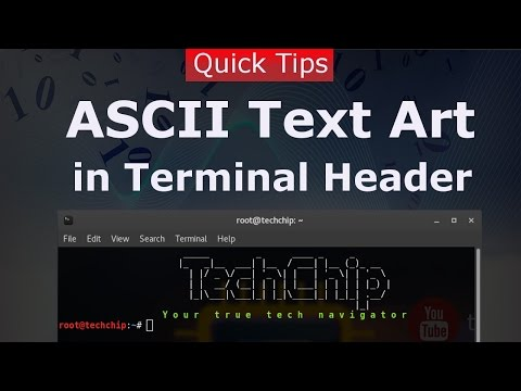 [Hindi] How to set ASCII Text Art in Linux Terminal Header | Figlet