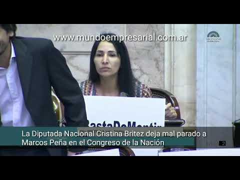 Cristina Britez deja mal parado a Marcos Peña