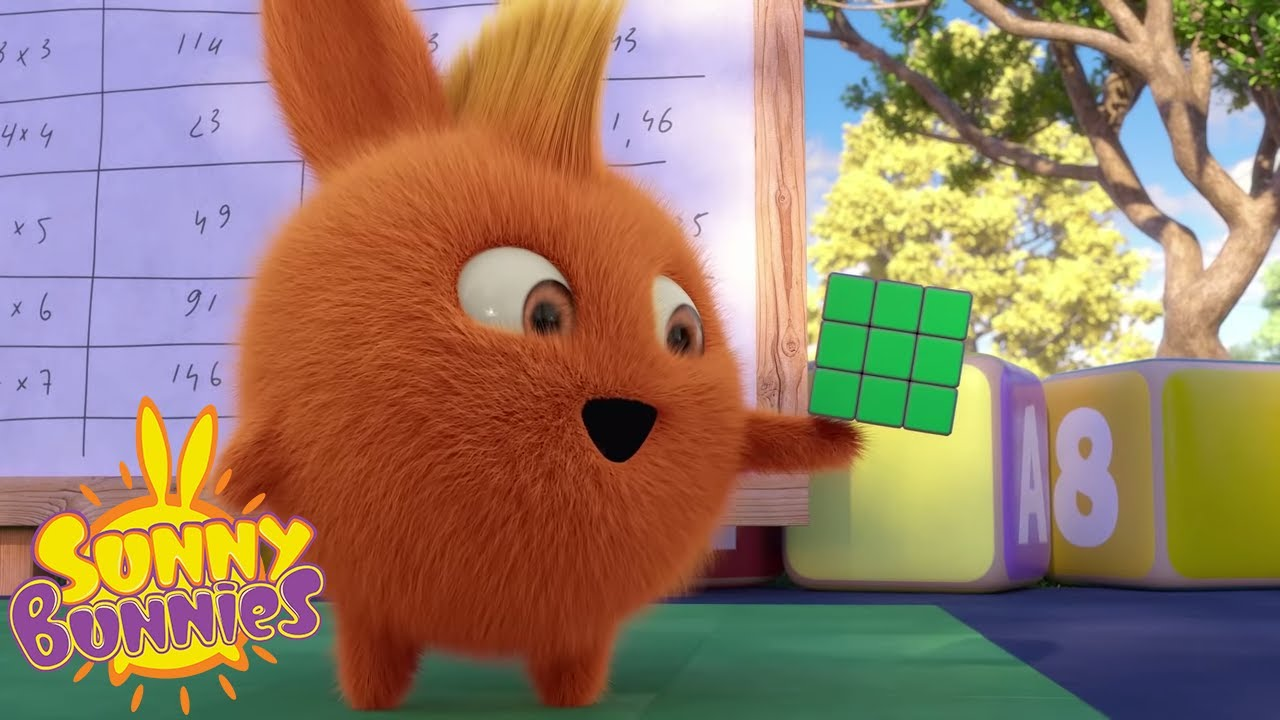 SUNNY BUNNIES - Solving the Cube | Season 4 | Cartoons for Children