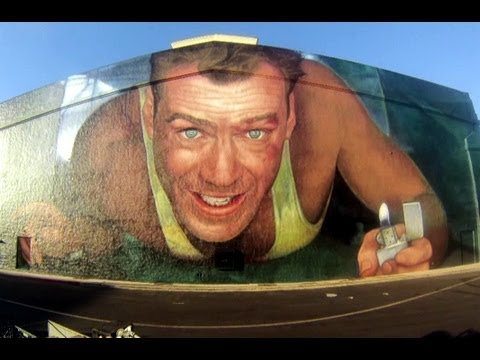 A Good Day to Die Hard - L.A. Mural Time Lapse (HD)