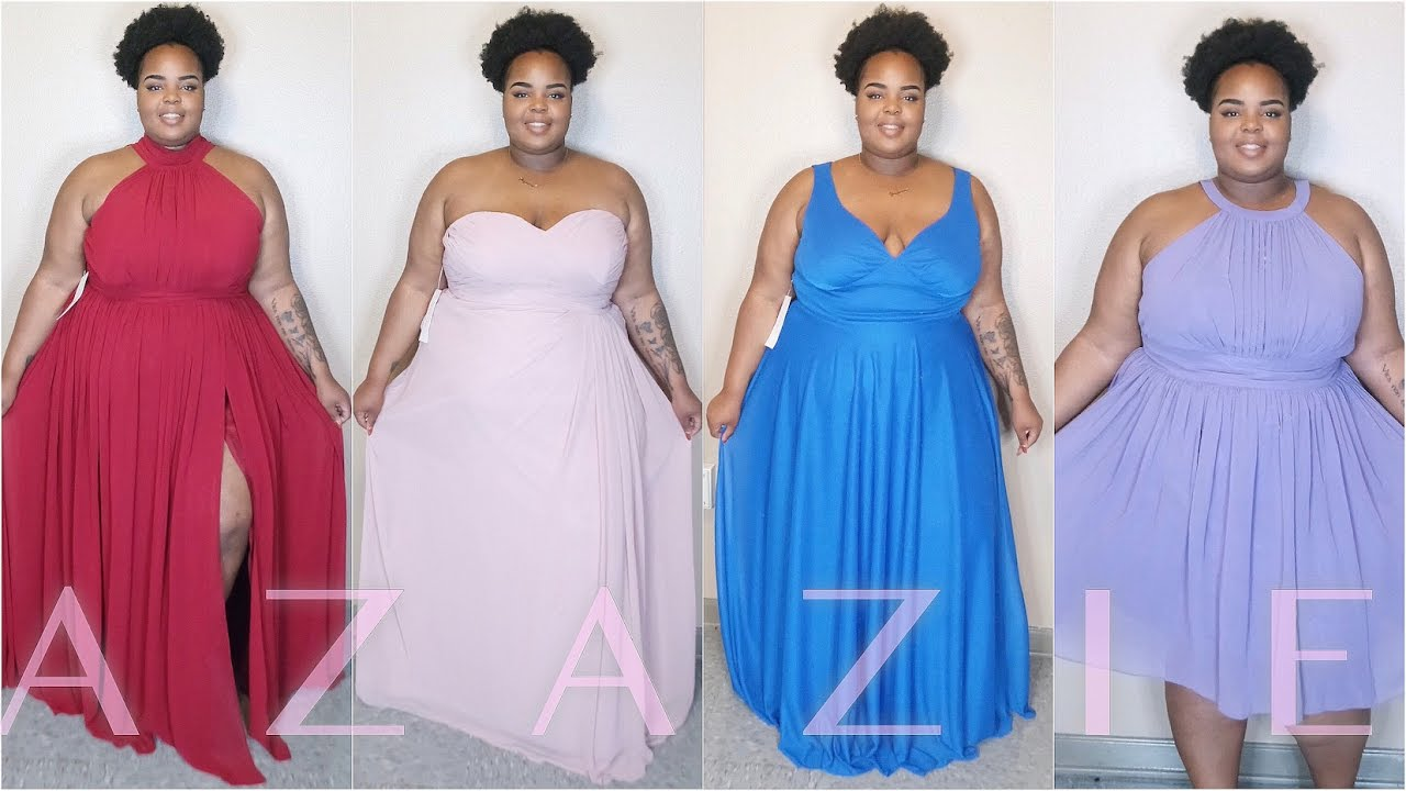 0445f3e22590 Plus Size Formal Gowns ft. Azazie | Try-On - YouTube