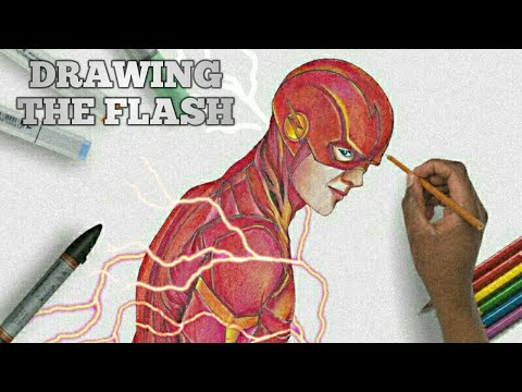 drawing the flash from season 6 grant gustin