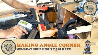 Membuat Siku Sudut Klem Penyambung Kayu Bikin Siku Pojok Making Angle Corner Clamp Jointing Wood