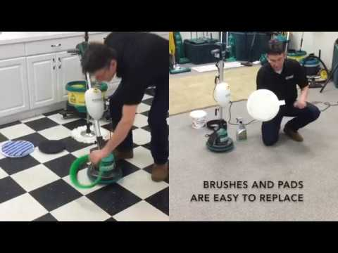 Bissell Big Green Commercial Easy Motion 13inw Floor Scrubber And