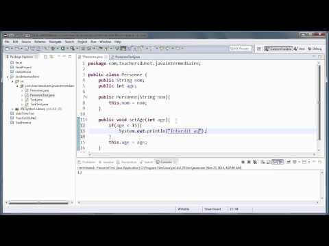 JAVA (Intermédiaire) - 10 - L'utilité Des Accesseurs Et Des Mutateurs En Java