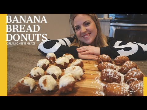Banana Bread Donuts | Cream Cheese Glaze