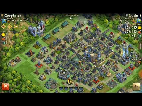 Dominations - Atomic age +missile silo +stronghold troops 216 vs industrial 138..war attack..