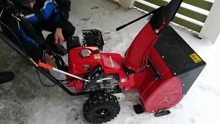 видео Снегоуборщик Honda HSS655 EW
