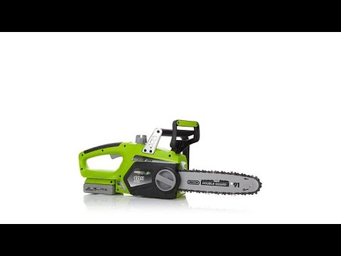 Earthwise cordless 20volt lithiumion chain saw youtube earthwise cordless 20volt lithiumion chain saw greentooth Image collections