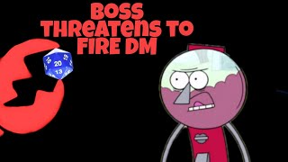 Boss Threatens To Fire Employee For Not Favoring Him r/rpghorrorstories