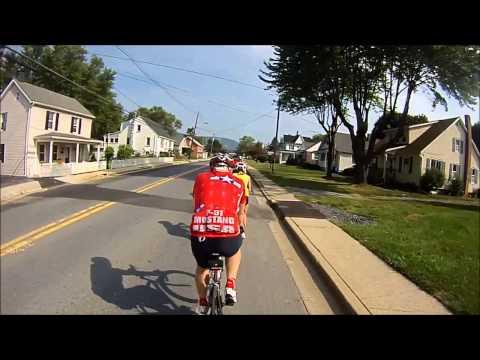100 miles- Walkersville, MD to Gettysburg, Pa