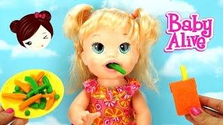 Bebe Alive Come Papilla de PLAY DOH - Sara Comiditas Divertidas Muñeca Baby thumbnail