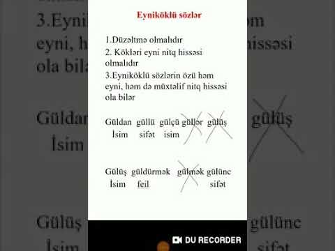ƏLAMƏT BİLDİRƏN SÖZLƏR
