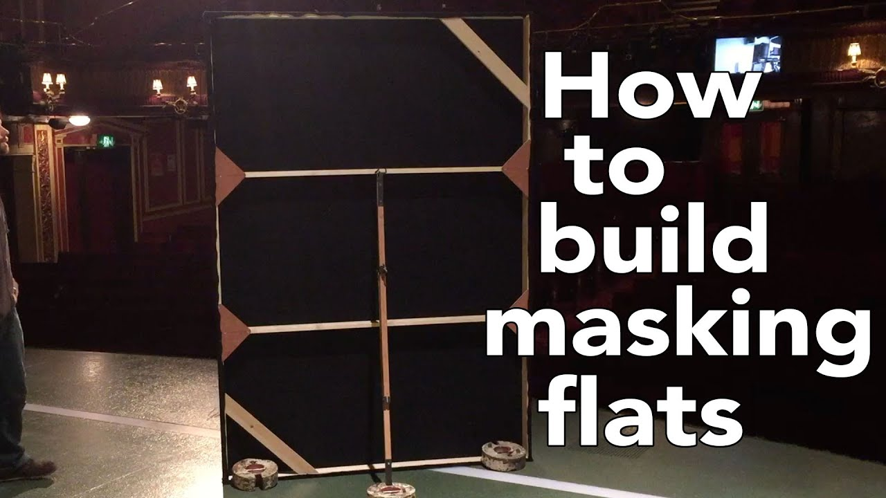 How to build Theatre Masking Flats  YouTube