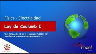 Ley de Coulomb (OBTENER LA FUERZA RESULTANTE de una carga)