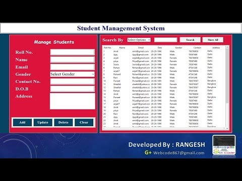 How To Make A Student  Management System In Python With Database #Hindi  - Part 1 Of 2