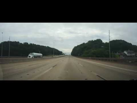 Driving on Interstate 65 from Birmingham to Montgomery, Alabama