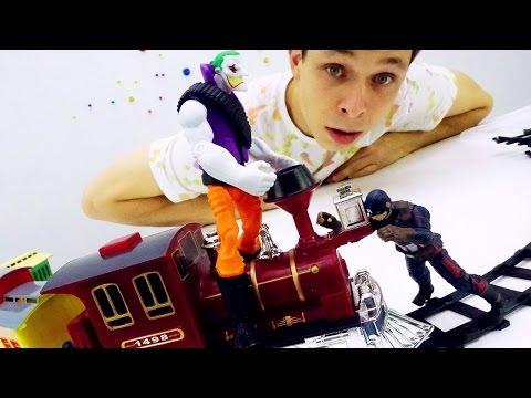 Супергерои: детское видео! Капитан Америка против Джокера! Игрушки для мальчиков.