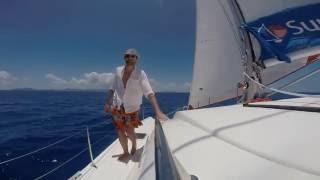 Catamaran Sailing in BVI