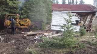International 175 tracked loader vrs old cottage!