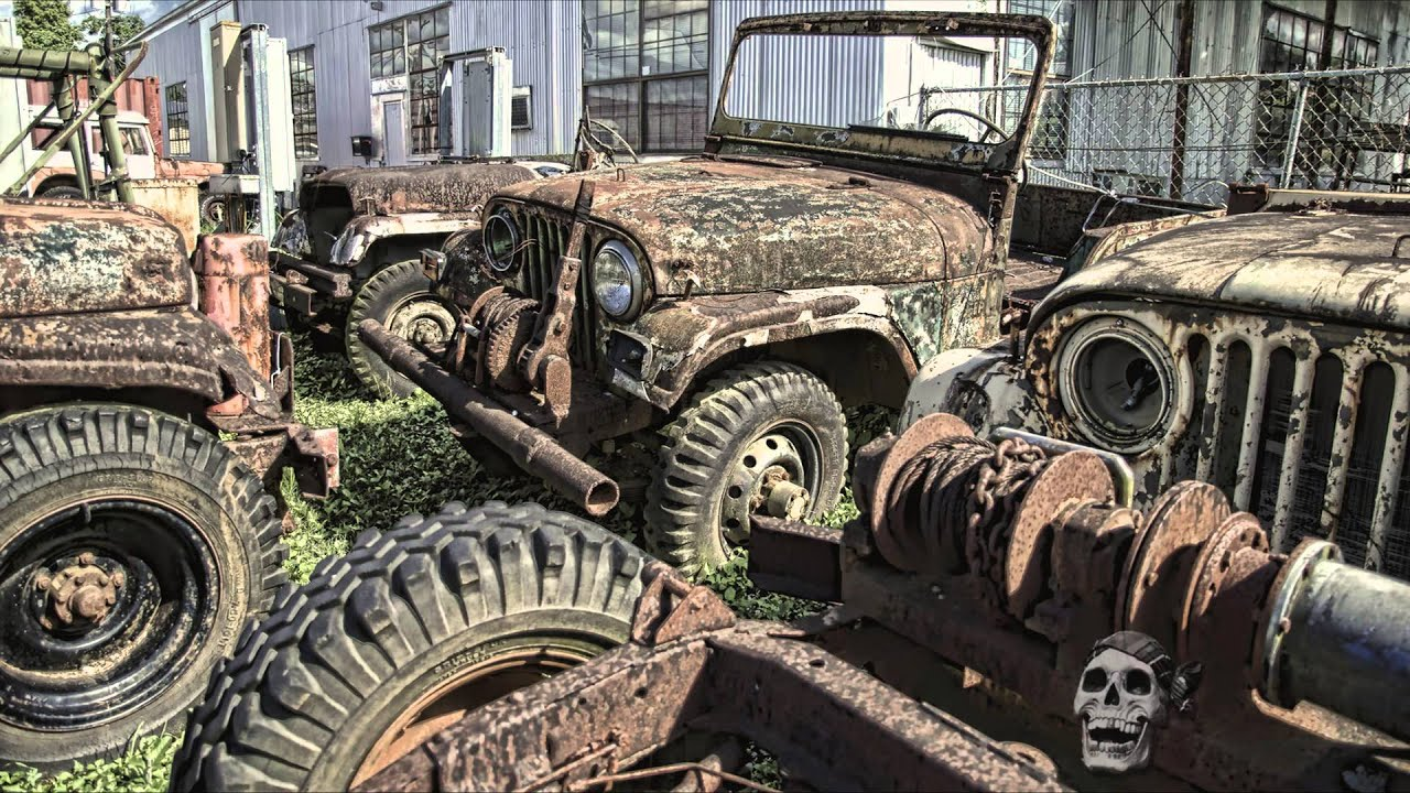 Abandoned WW2 jeeps 2016. Amazing abandoned military vehicles WW2 ...
