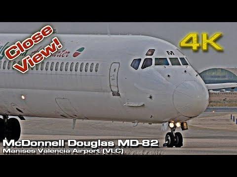 McDonnell Douglas MD-82 [4K] at Valencia (LZ-LDM) Bulgarian Air Charter (Close view)