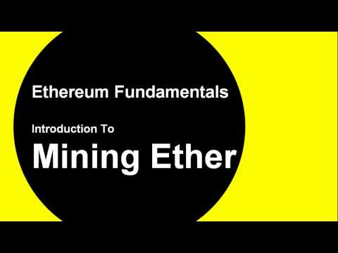 Intro To Ethereum Mining: Mine Ether On Your Private Ethereum Blockchain in 8 mins