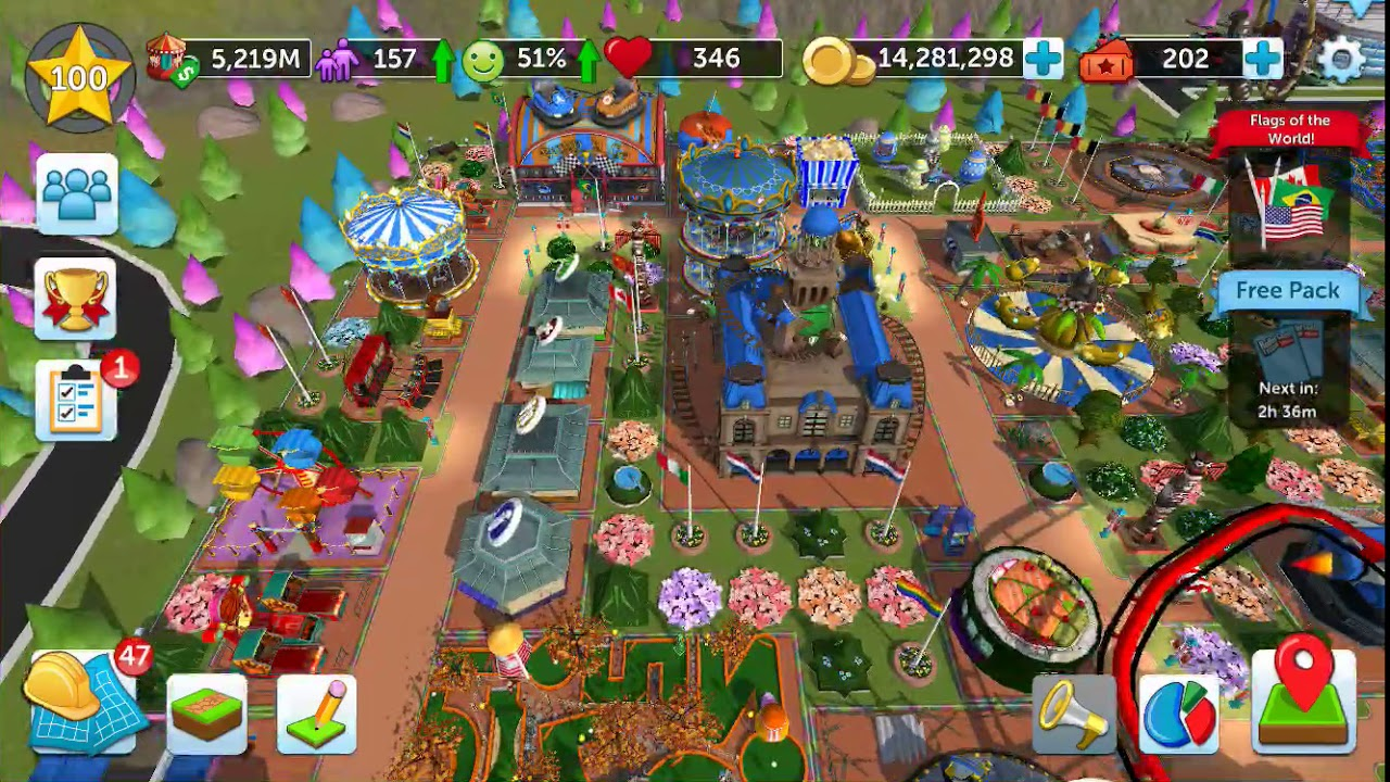 RollerCoaster Tycoon Touch - Gameplay - Level 100 - 100% Peep