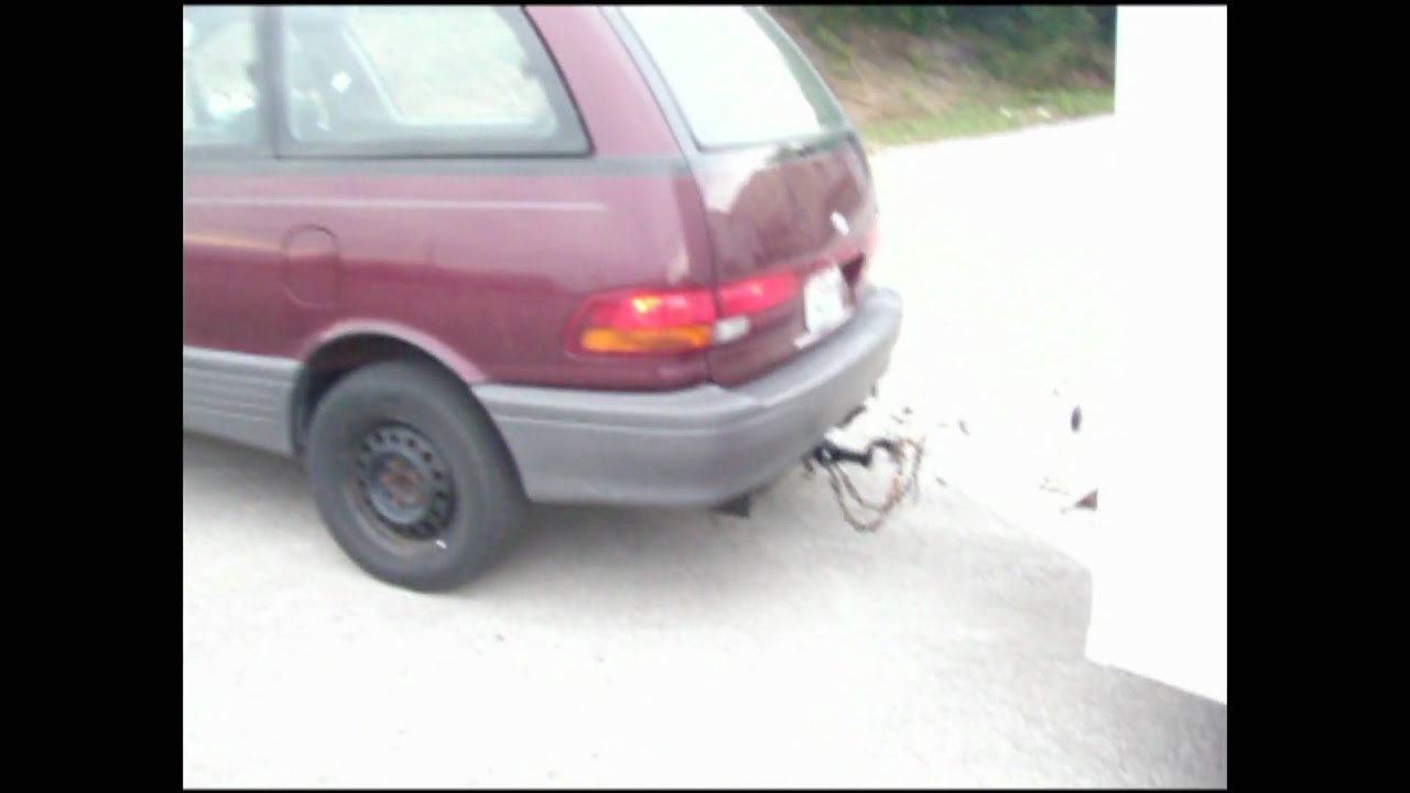 toyota previa hitch installation trailer towing [ 1280 x 720 Pixel ]
