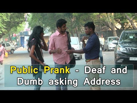 Public Prank - Deaf and Dumb asking address | Tamil Prank Video | BioScope