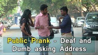 Public Prank - Deaf and Dumb asking address | Tamil Prank Video | BioScope