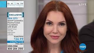 Skinn Cosmetics Light Plasma Fusion Foundation with Brush