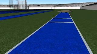 pista de atletismo en 3D