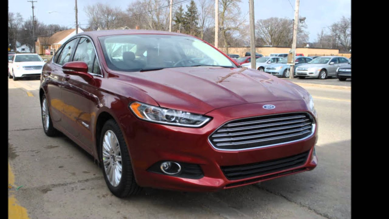 2013 ford fusion hybrid se ruby red metallic tinted clear coat