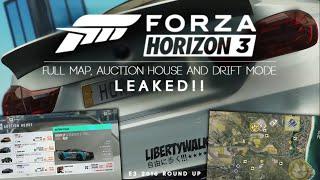 Forza Horizon 3 - FULL MAP, AUCTION HOUSE AND DRIFT MODE LEAKED