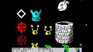 A quick look at Ocean Draw - Ocean Software's ZX Spectrum sprite designer.