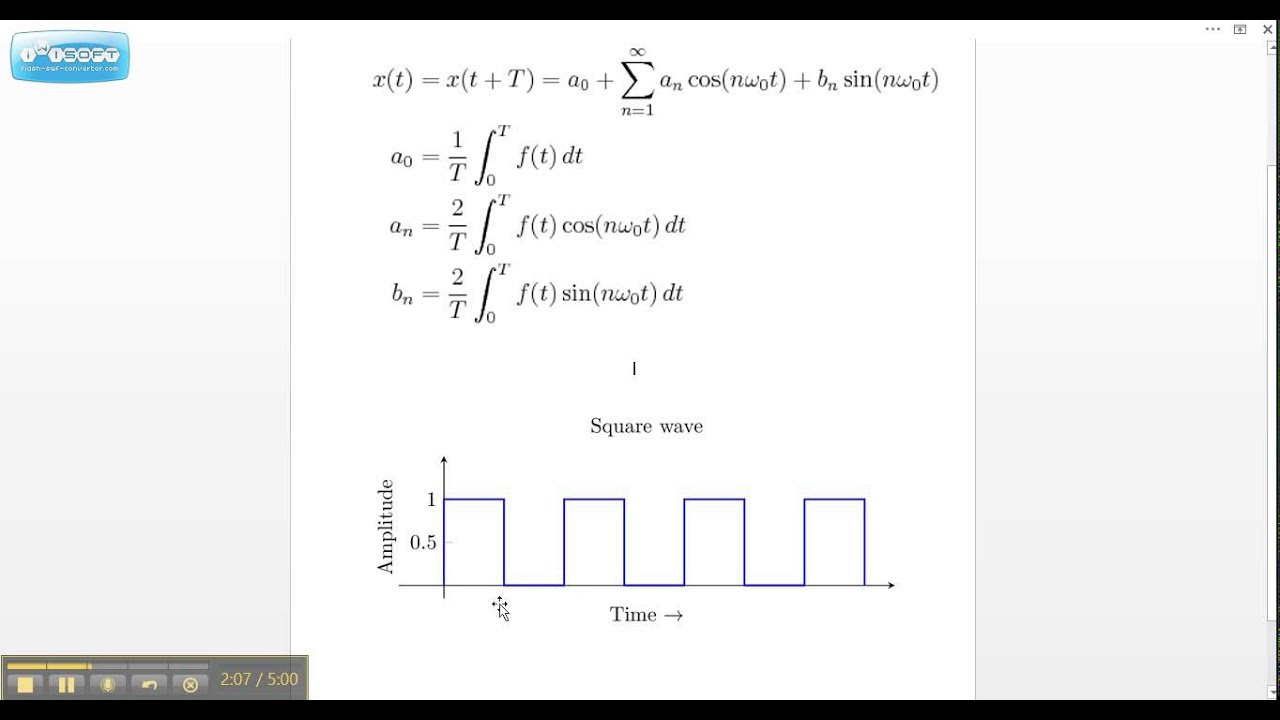 Calculating coefficients of fourier series pdf