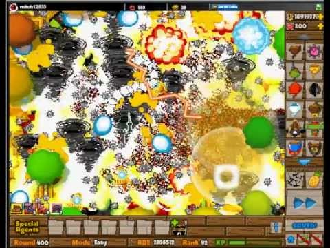Black And Gold Games: Bloons Tower Defense 5 Level Record