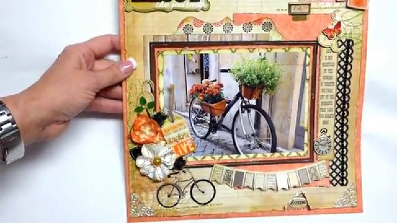 Scrapbook ideas youtube - Scrapbook Ideas Hiking Scrapbooking Two 2 Single Page Technique Layouts Of Rome Italy Youtube