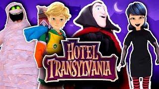 🧛♂️ HOTEL TRANSYLVANIA 🦇con Personajes de MIRACULOUS LADYBUG Juguetes Fantásticos