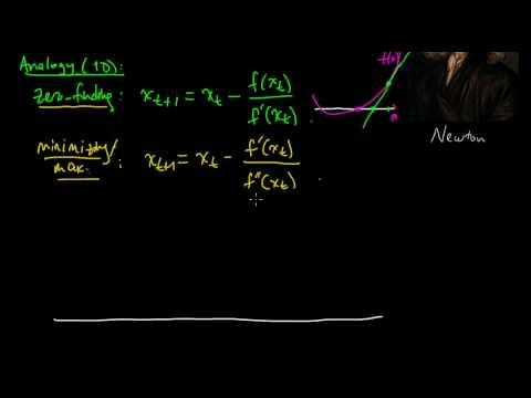 (ML 15.1) Newton's method (for optimization) - intuition