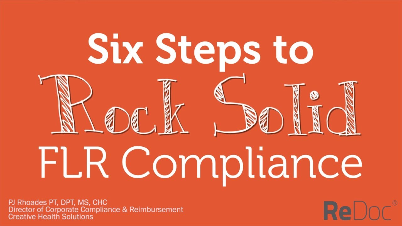 Net Health presents Six Steps to Rock Solid FLR Compliance