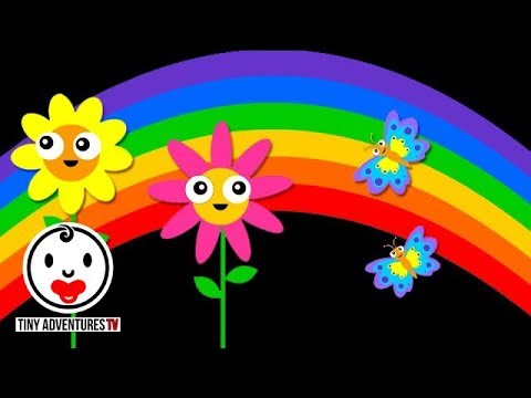 Baby Sensory Happy Day With Nursery Rhymes High Contrast Animation Fun Video For Baby Youtube