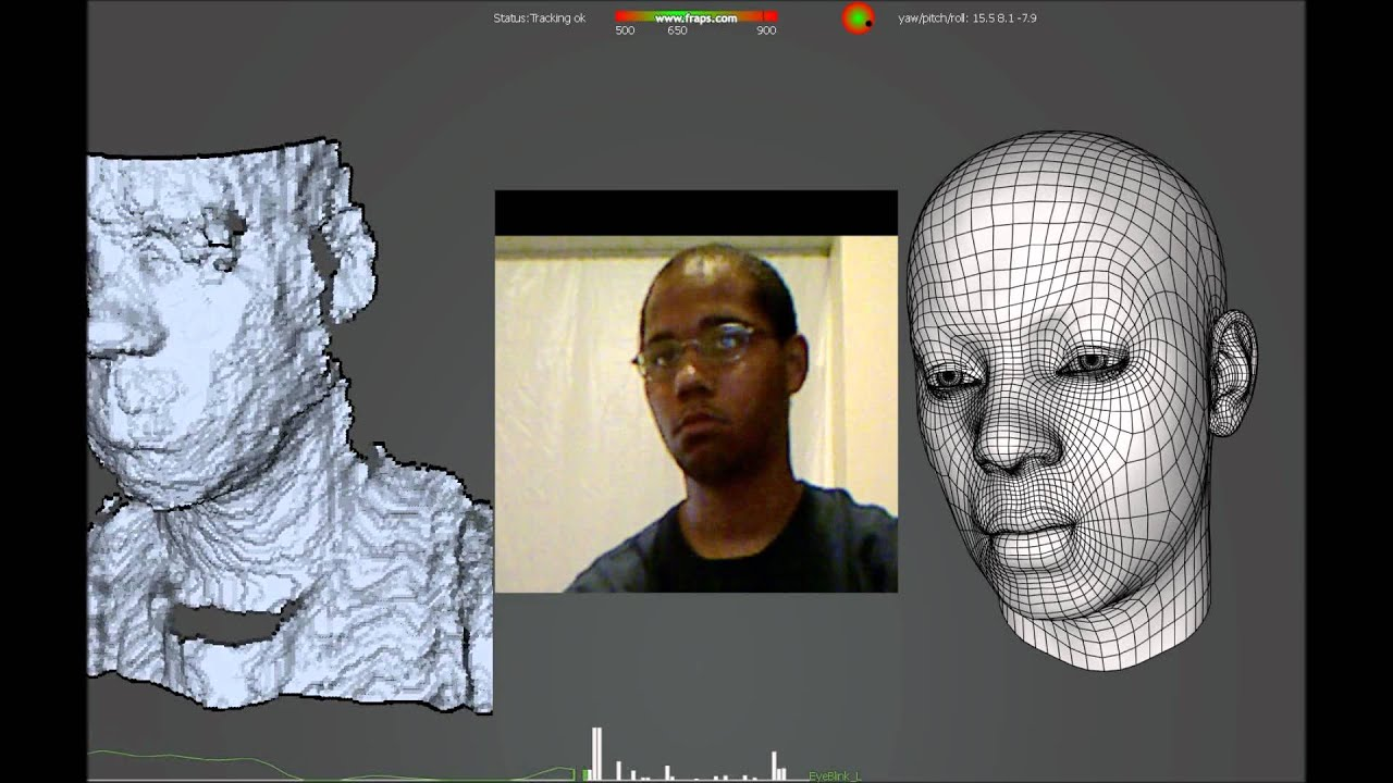 FaceShift Facial Motion Capture with Microsoft Xbox Kinect
