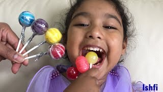 Pre School Toddler Ishfi Learning Colors with Lollipop