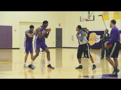 OOPS! Roy Hibbert Accidentally Jabs Lou Williams In The Face While Play Fighting