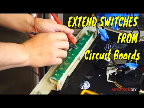 Tactile switch Extension and rewire   / LCD FIRESTICK tv IN FRIDGE