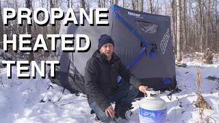 Camping In Propane Heated Tent